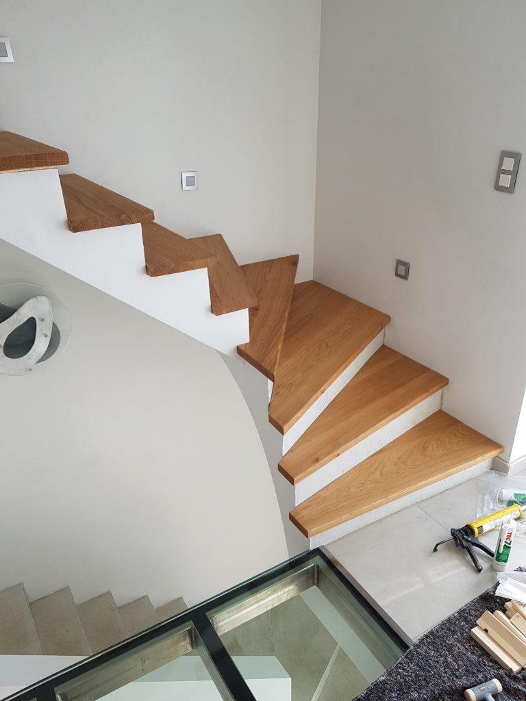 Réalisations Goffinet Menuiserie Namur | Recouvrement escalier