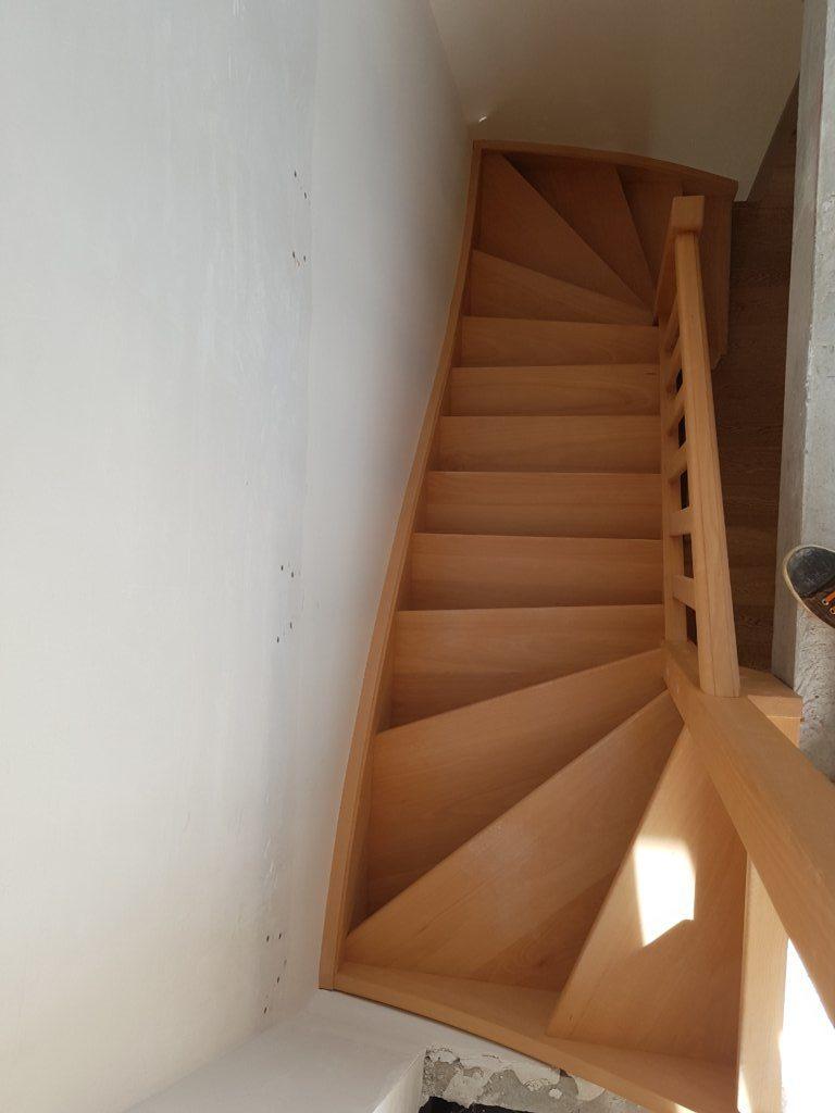 Escalier en hêtre